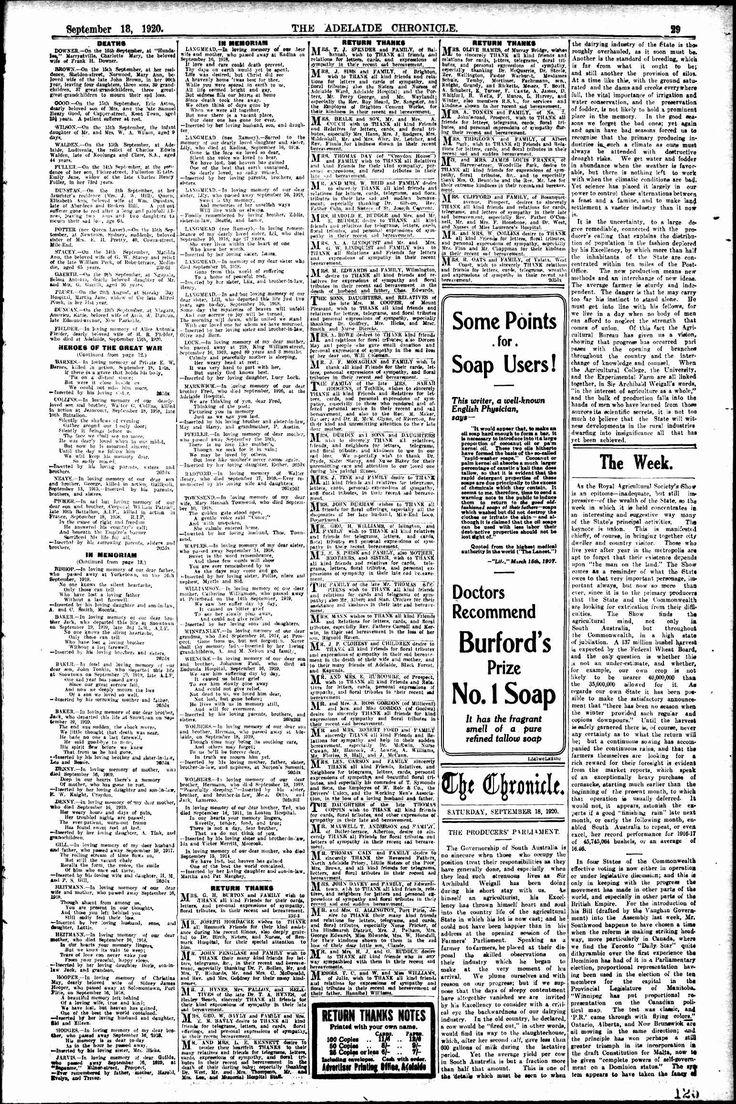 Chronicle (Adelaide, SA) - Australian Newspapers - MyHeritage