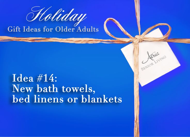 Holiday Gift Ideas for Older Adults #14: New bath towels, bed linens or blankets #holiday #gifts #olderadults #seniors #assistedliving