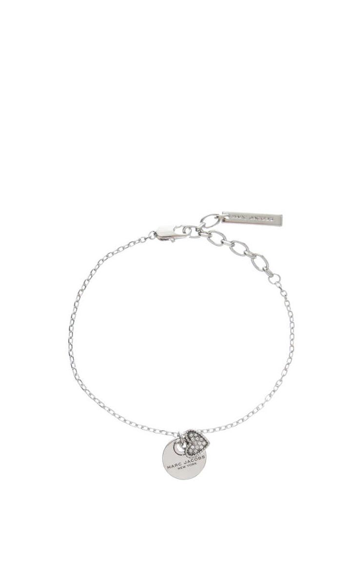 Armband MJ Coin Bracelet Heart CRYSTAL/SILVER - Marc Jacobs - Designers - Raglady