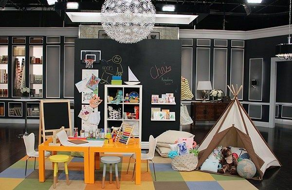 Basement Kids Playroom Ideas with chair and Table include Indoor Kids Tent