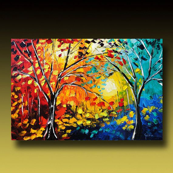Painting Original - Trees - by GoldieK.