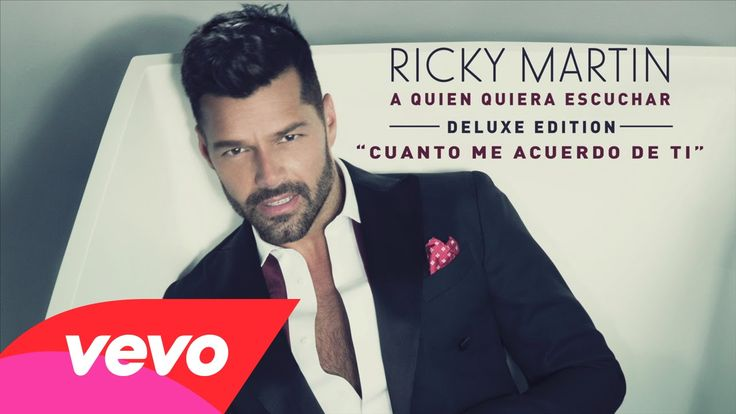 Ricky Martin - Cuanto Me Acuerdo de Ti - what an awesome song. very funky!