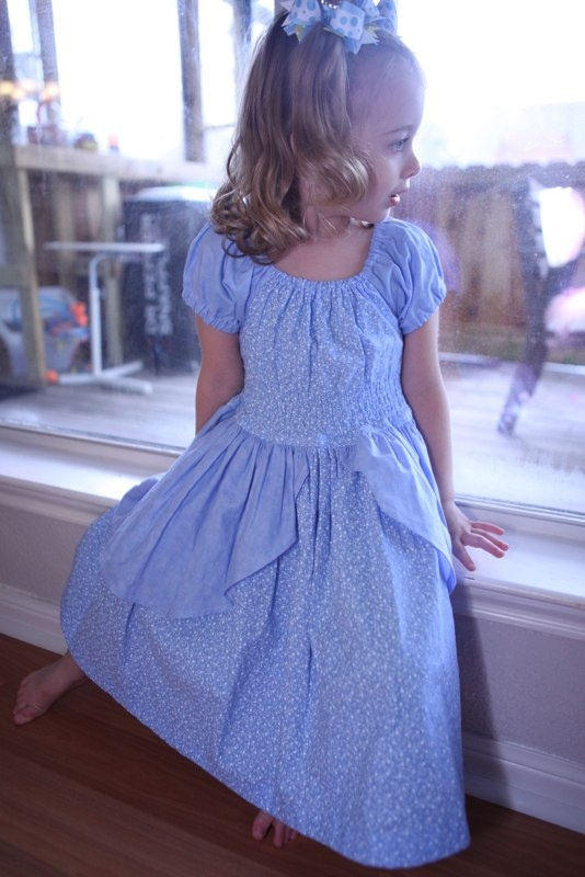 Cinderella play dress -- Handmade by Adora Belle.  Adora Belle produces little girls clothing that inspires the imagination, projects innocence, and nostalgia.