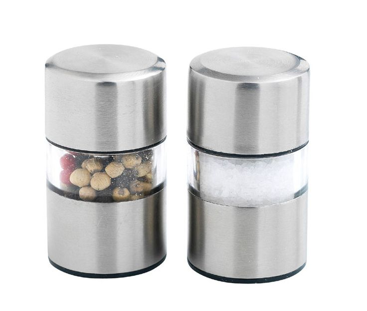 A little goes a long way with salt and pepper especially when cooking with fresh ingredients.  The Mastrad Mini Salt and Pepper Grinders are great little grinders that can be used at the stove or at the dining table.  The sleek, cylindrical design makes them a modern addition to any kitchen.  The set includes two grinders - one for salt and one for pepper - both have ceramic grinders for a pure, even grind for perfectly salted and peppered food.  The grinders are easy to fill and refill…