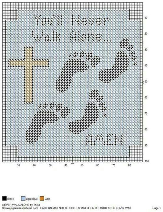 You'll Never Walk Alone wall hanging
