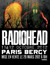 Radiohead in Paris at Bercy from 11 October 2012 to 12 October 2012!!  You need an hotel next to Bercy so book your at the Standard Design Hotel Paris which is only at 10 minutes by walk.