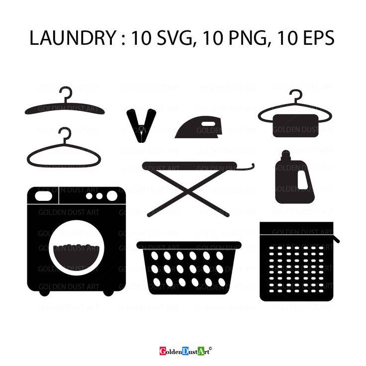 Download Laundry SVG, Laundry Clip Art Set, Laundry Icon, Instan ...