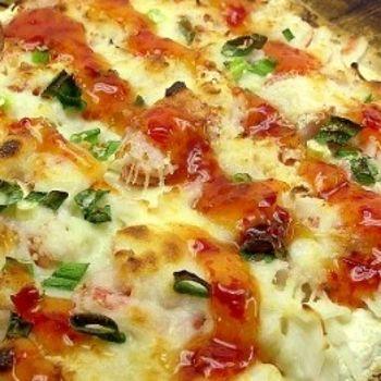 Crab rangoon pizza, like that of Fong's in Iowa