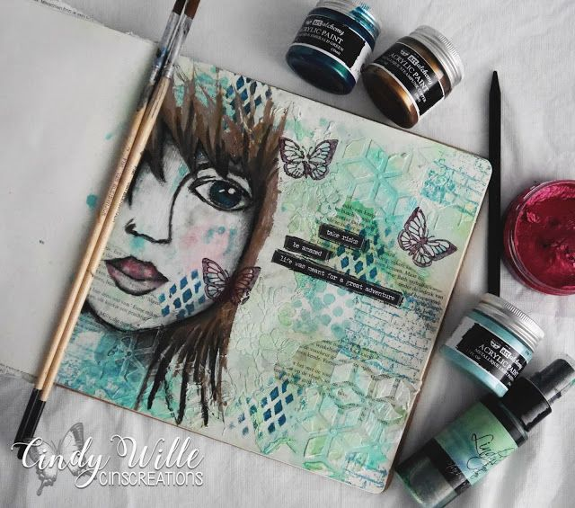 So I'm following some pretty awesome Art Journal artist lately and felt greatly inspired by the way they combine the for me known...