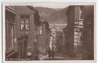 Real Photo Street View Bergen Norway ca 1915