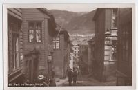 Real Photo Street View Bergen Norway ca 1915
