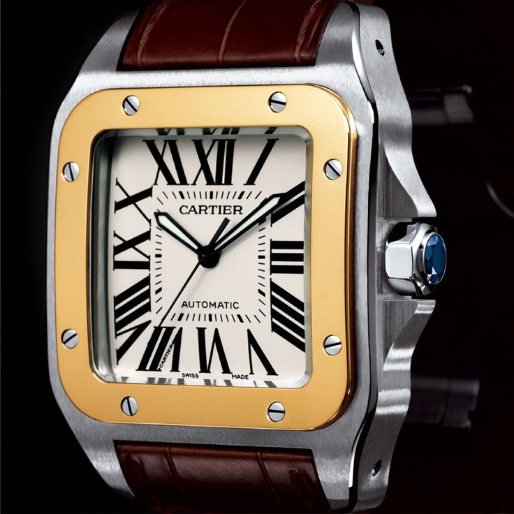 My watchesStyle Watches, Favorite Things, Men Cartier Watches, 100 Watches, Men Fashion, Perfect Gentlemens, Santo 100, Cartier Replica, Cartier Santo