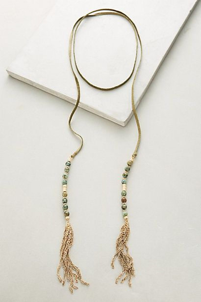 Beaded Suede Necklace #anthropologie