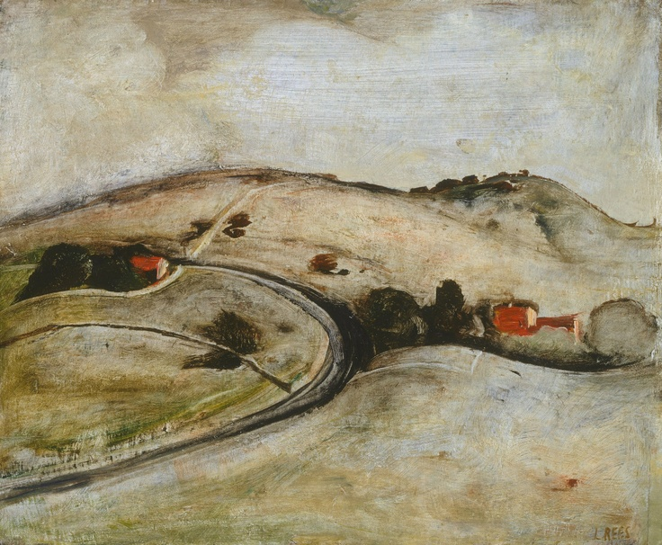 """Lloyd Rees """"The Road To Berry"""" 1947"""
