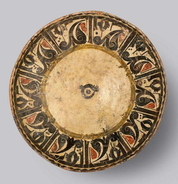 "Slip Painted Calligraphic Bowl - ADC.168 Origin: Central Asia Circa: 10 th Century AD to 11 th Century AD Dimensions: 3.35"" (8.5cm) high ..."
