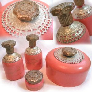 Vintage Avon Perfumes, Lotions and talcum, bottles. This reminds me of my Mom, she used to sell Avon products and we had these all the time at home.