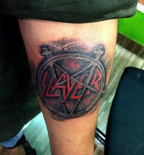 ... metal tattoos tattoo stuff people things slayer tattoo slayer tattoo