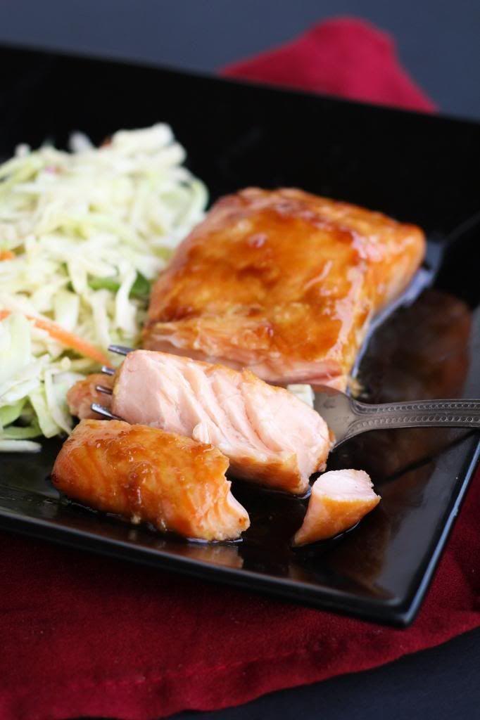 Ponzu glazed salmon w/ miso slaw | DINNER | Pinterest