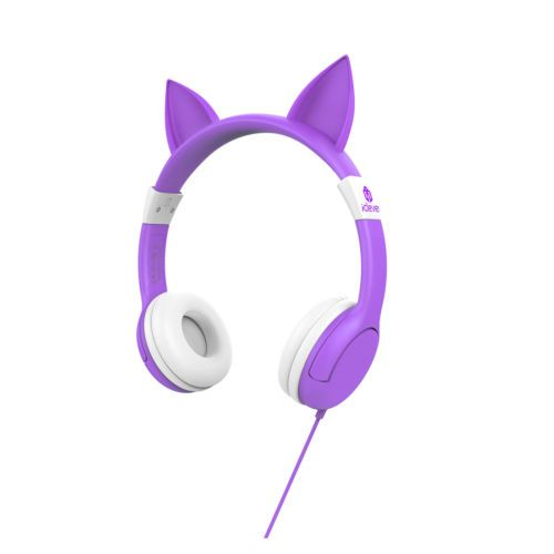 iClever-Cat-Ears-BoostCare-Kids-Headphones-Wired-Over-EarFood-Grade-Silicon