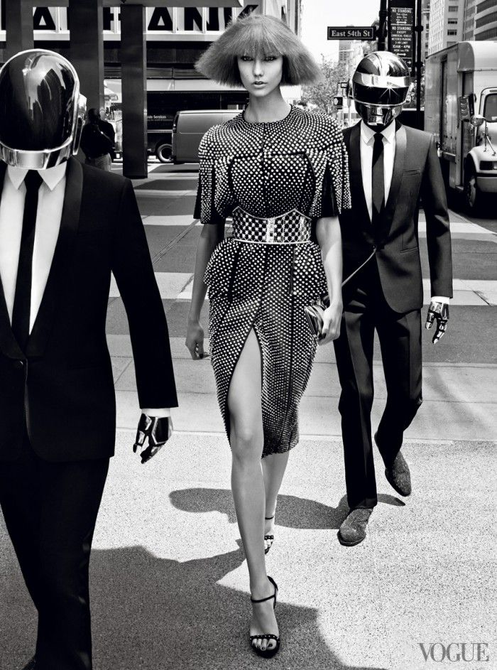 Karlie Kloss & Daft Punk in 'All-Ages Show' by Craig McDean for Vogue US, August 2013.