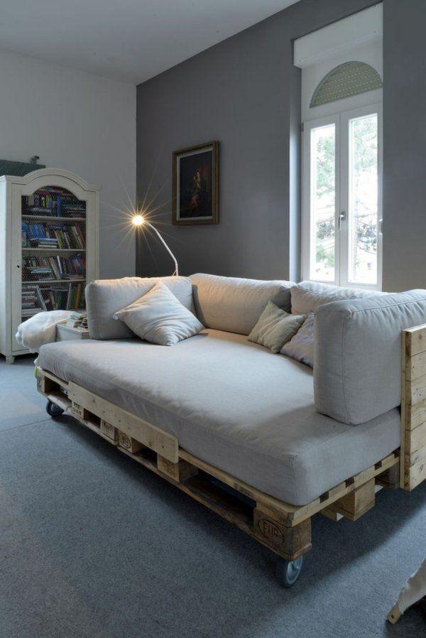 beleuchtung lampe Möbel aus Europaletten sofa auflagen