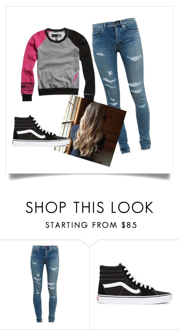 Motocross Girl by savanaglass on Polyvore featuring Yves Saint Laurent and Vans