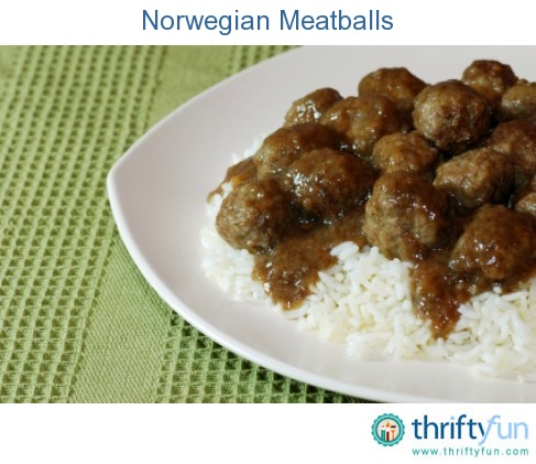 This page contains Norwegian meatball recipes. This meat with gravy dish is a long time tradition in Norway.