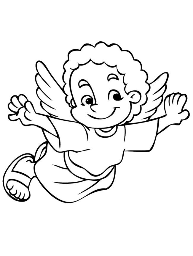 christmas boy angel coloring pages - photo#5