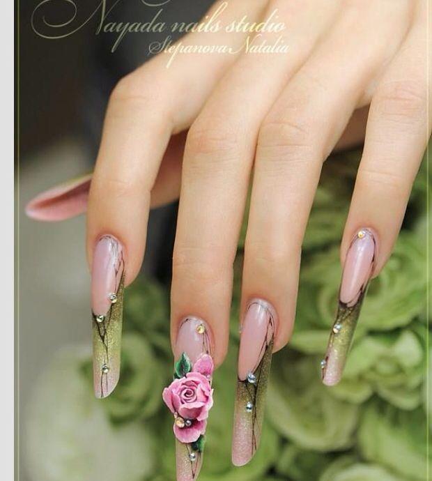 3D  Nails, unhas de acrílico, acrylic nails, gel nails, nail art