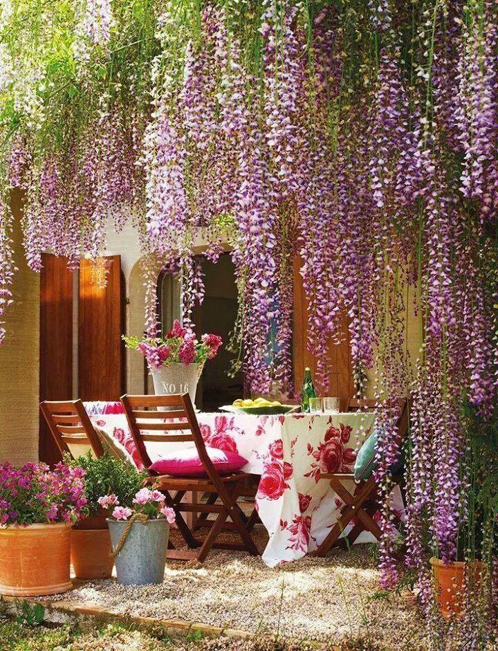 Jardim de inverno elegante e feminino. Fotografia: http://www.decorfacil.com/jardim-de-inverno-modelos-e-plantas/