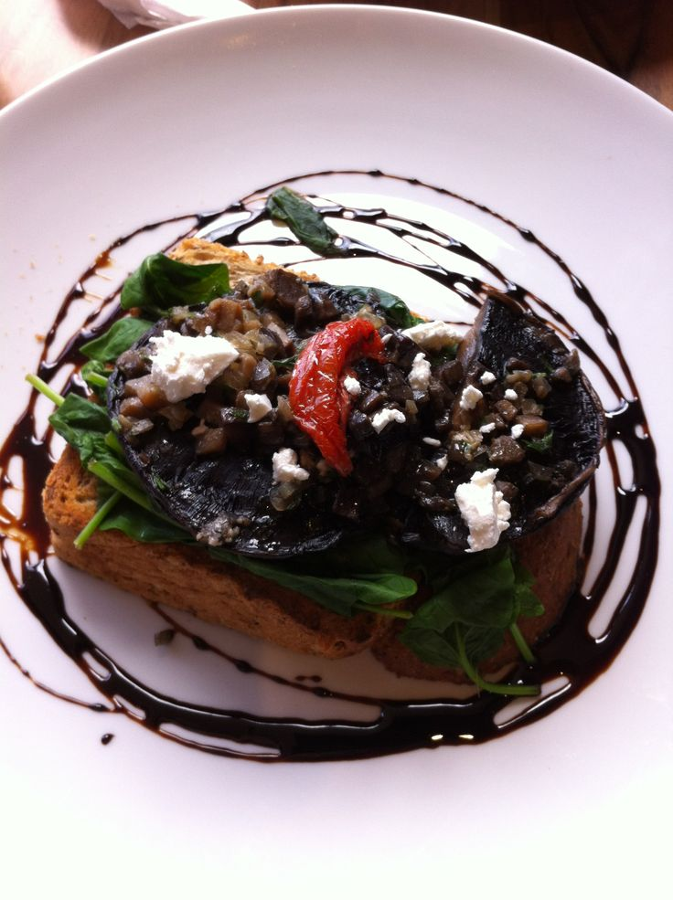 Breakfast at Food cafe in Victoria Park, Perth. You can't go wrong with mushroom, spinach, ricotta and semi-sun dried tomatoes. If I recall, the bread was a light rye. Yum!