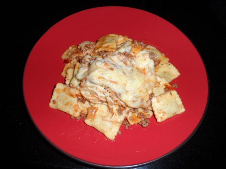 Easy Cheesy Ravioli Lasagne