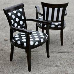 POLKA DOTS~polka dot black chairs