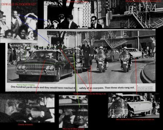 Recently Released Photo Showing Oswald In Door Way During The JFK Presidential Motorcade when he was supposed to be shooting the President