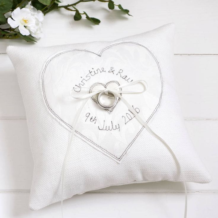 Are you interested in our personalised wedding ring pillow? With our personalised wedding ring cushion you need look no further.