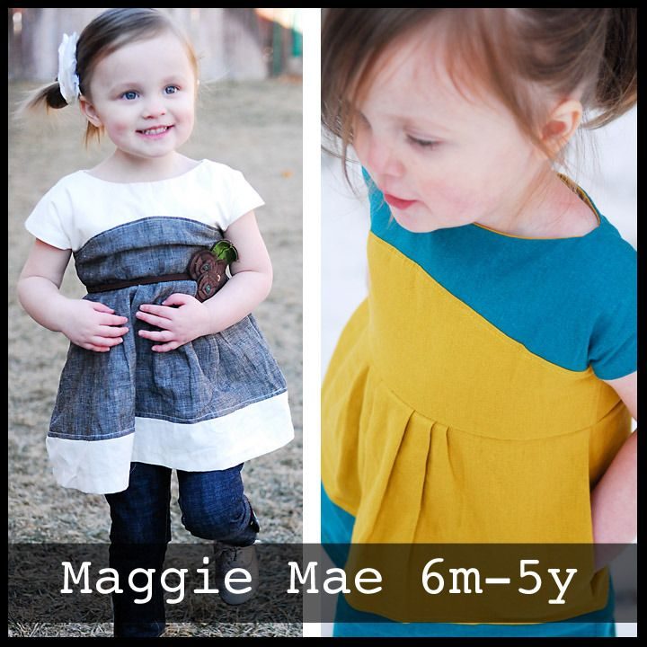 Maggie Mae Top and Dress sewing pattern for girls | Go To Patterns