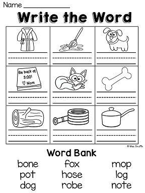 Long O worksheets galore