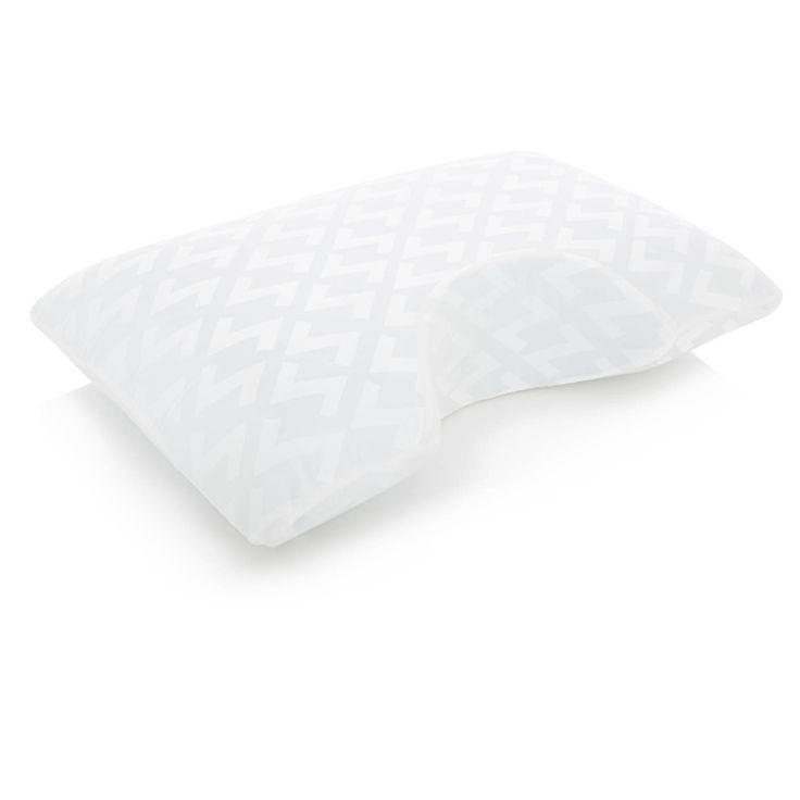 Z by Malouf Side Sleeper Z Gel + Gel Memory Foam Pillow, Black