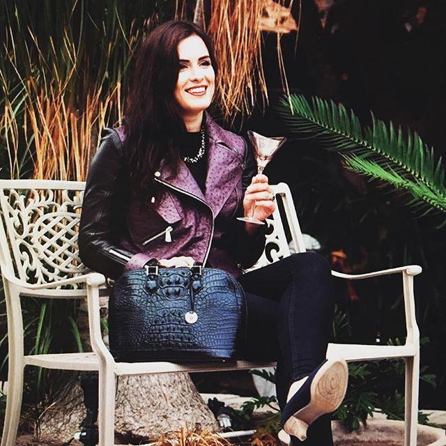 #vialamoda #ulkadesigns #crocodile handbag and #ostrich jacket