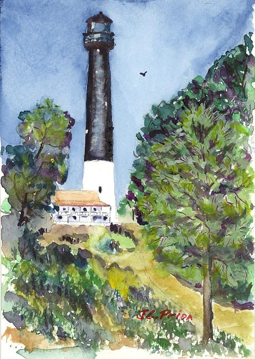 Watercolor of Pensacola Lighthouse: Art Mi, Dads Art, Lighthouses Watercolor, Watercolors, Mi Dads, Ghosts Yet, Prida Art, Pensacola Lighthouses
