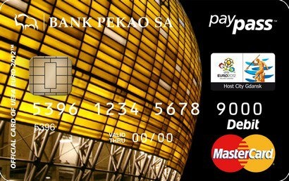 Payment card with photo of the PGE Arena in Gdansk