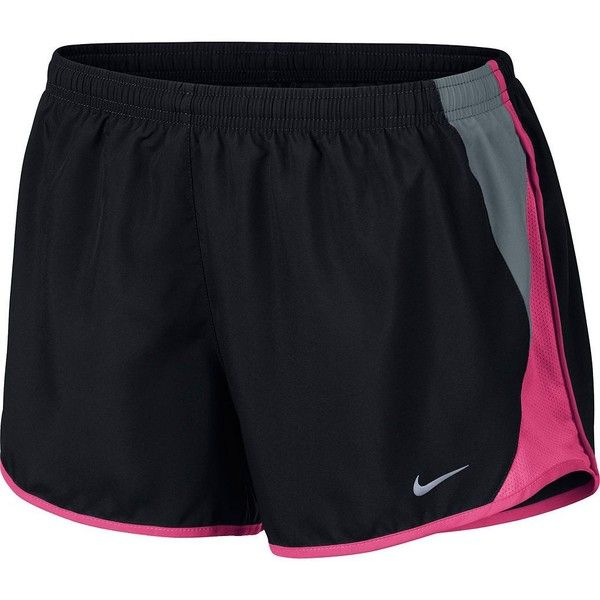 Women's Nike 10K Dri-FIT Running Shorts ($30) ❤ liked on Polyvore featuring shorts, pants, bottoms, shorts/skirts, grey and nike