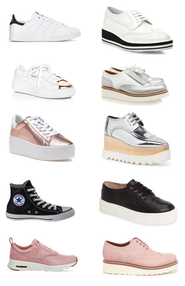 """""""Cool sneakers & brogues"""" by pm2013 on Polyvore featuring Mode, Converse, Puma, Ash, adidas, NIKE, Grenson, STELLA McCARTNEY, Prada und Shellys"""