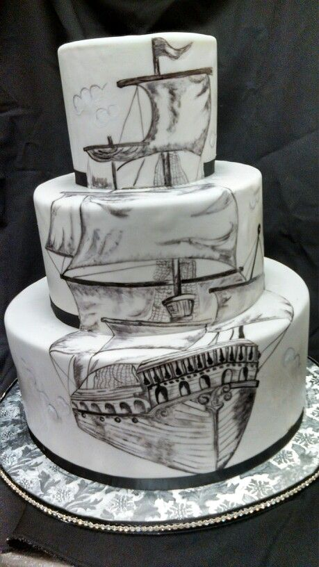 pirate themed wedding cakes pirate ship wedding cake ideas and designs 18618