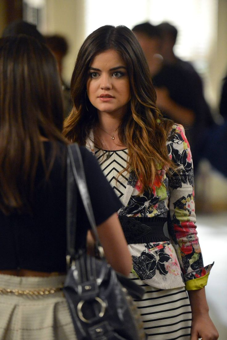 We love Aria's hair color on PLL.