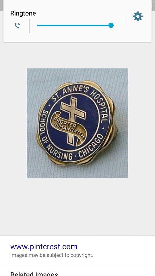 St. Anne's Hospital School of Nursing Pin