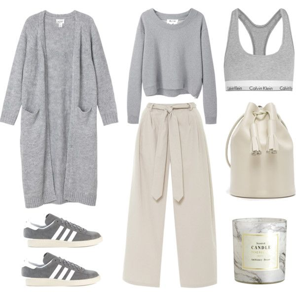 Cozy Sunday by fashionlandscape on Polyvore featuring Mode, Acne Studios, Monki, Calvin Klein Underwear, adidas and H&M
