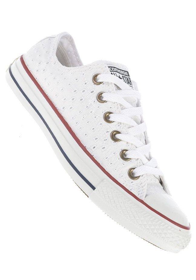 #planetsports CONVERSE - Womens Chuck Taylor Allstars Eyelet Ox cotton white