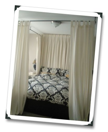 always wanted a canopy bed..Corner Beds, Crafts Room, Canopy Beds, Master Bedrooms, Canopies Beds, Bedrooms Furniture, Easy Canopies, Bedrooms Ideas, Diy Canopies