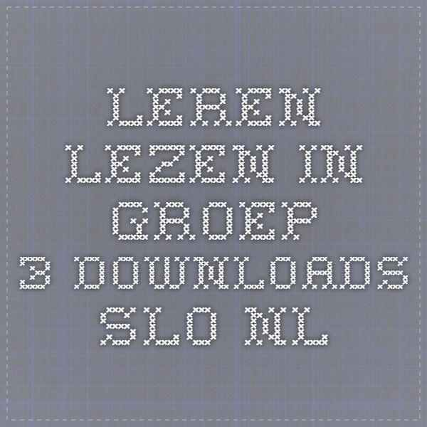 leren lezen in groep 3 downloads.slo.nl